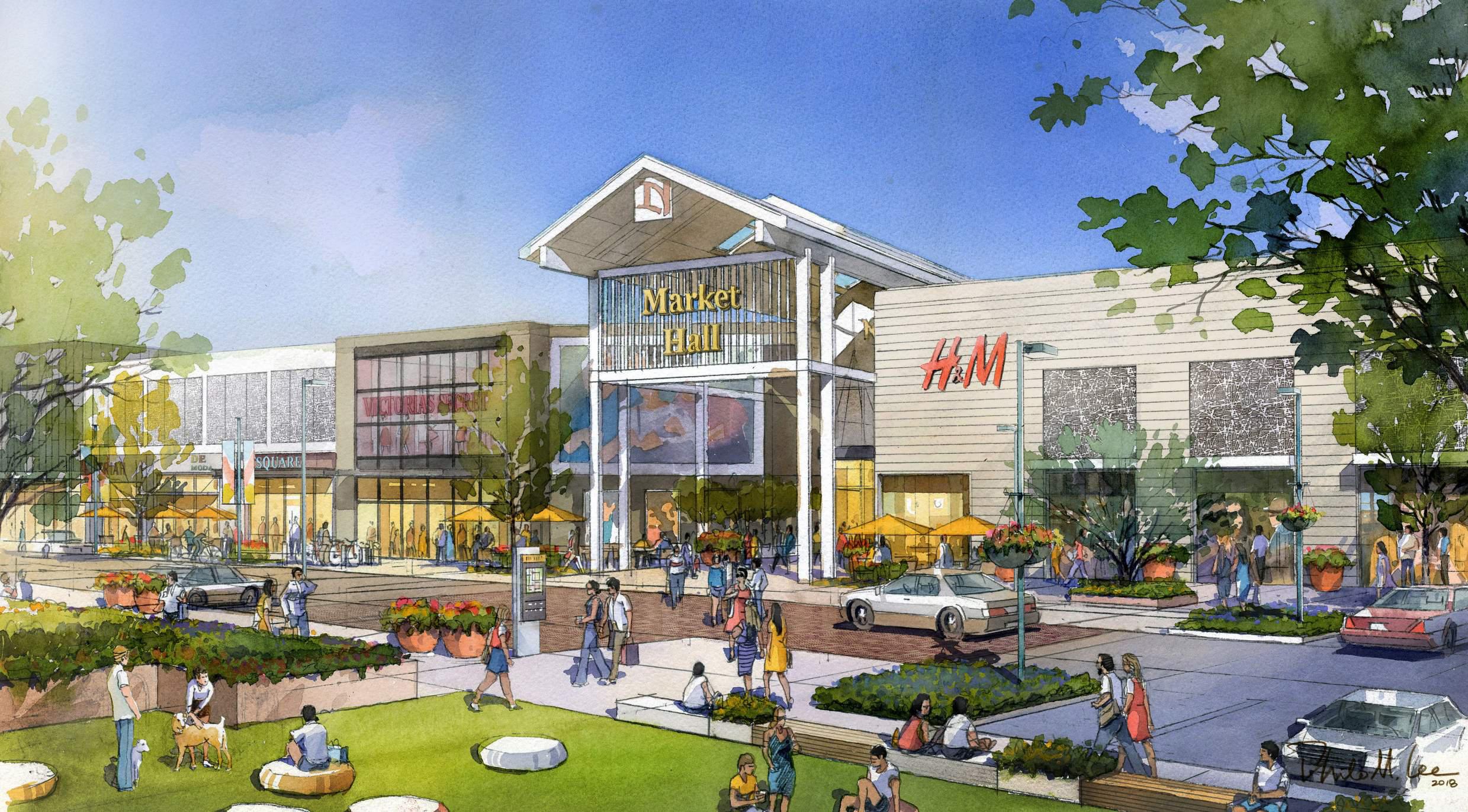 View of Main Street at Northgate Mall